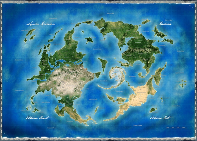 The World Map for Chronicles from Shiris