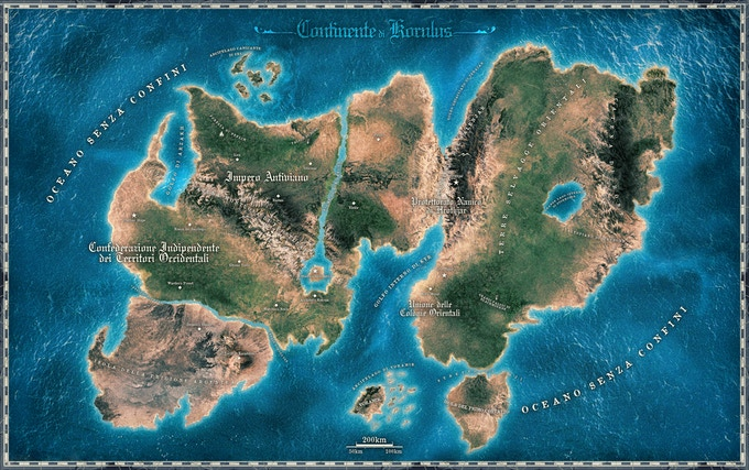 The World Map of Legends of Korulus