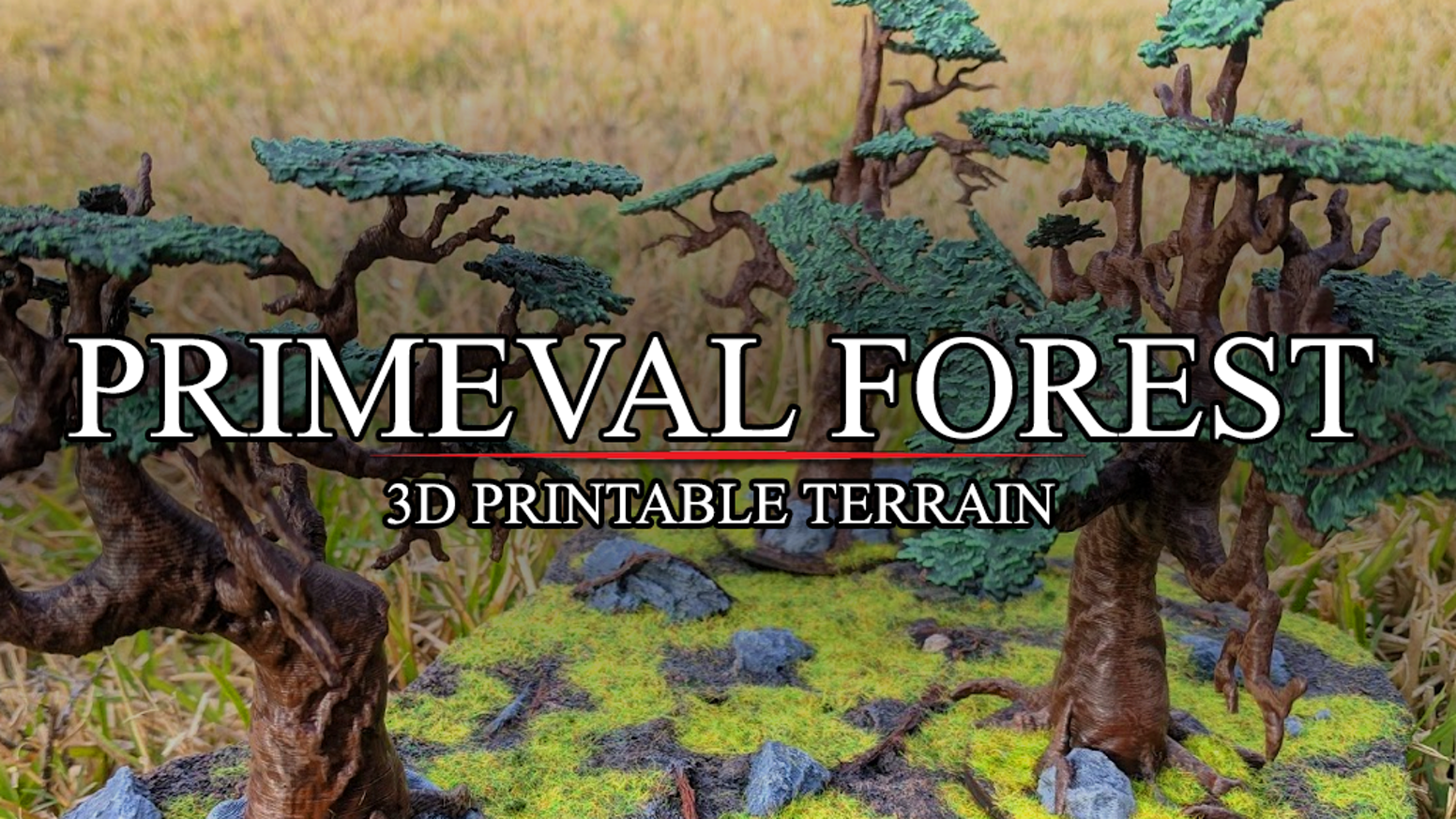 3D printed trees and forests for miniature wargaming and roleplaying games