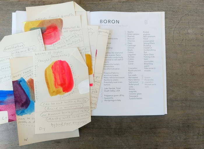 An artist's book about the Elements of the Periodic Table and our inherent inseparability from everything.