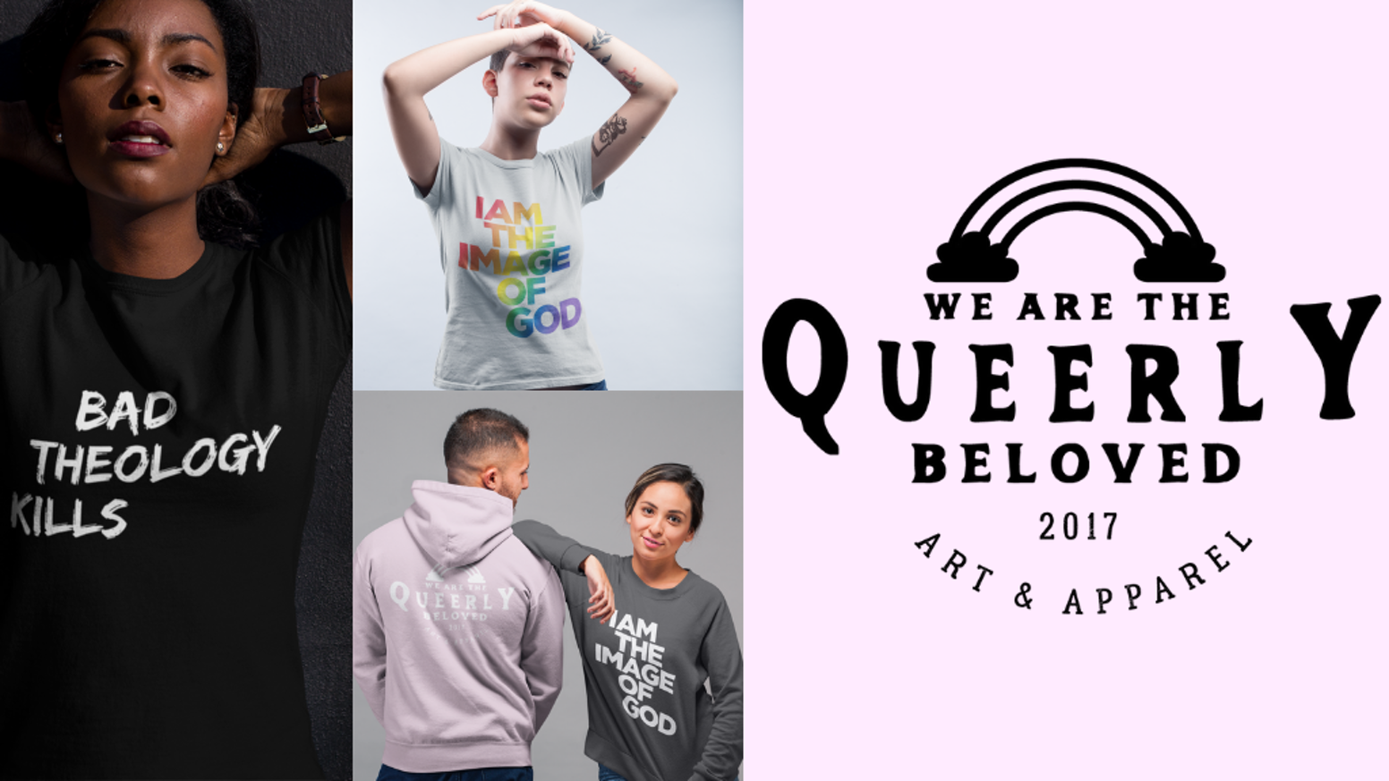 An apparel line bringing representation and voice to queer people of faith.