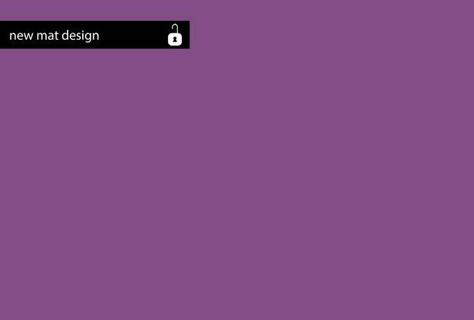 New gaming mat design to choose from / Neues Mattendesign als Auswahlmöglichkeit