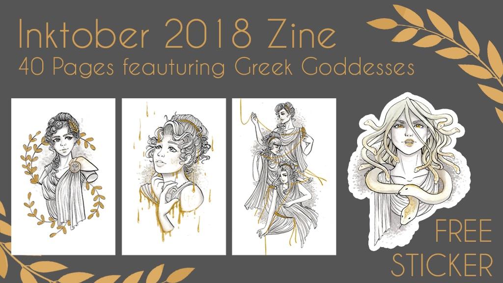 Greek Goddesses Inktober Zine