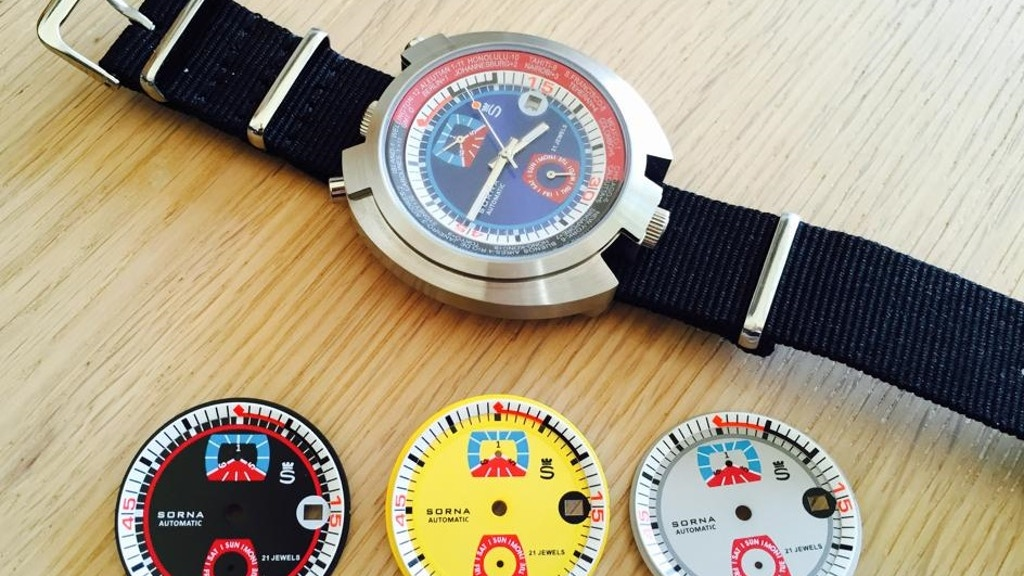 SORNA retro automatic watch project video thumbnail