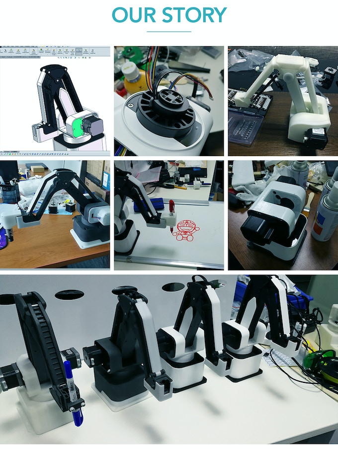 The Modular All-In-1 Desktop Robotic Arm by origigy.com origigy backers today kickstarter indiegogo