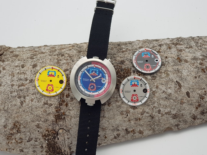 SORNA watch with 4 colour options