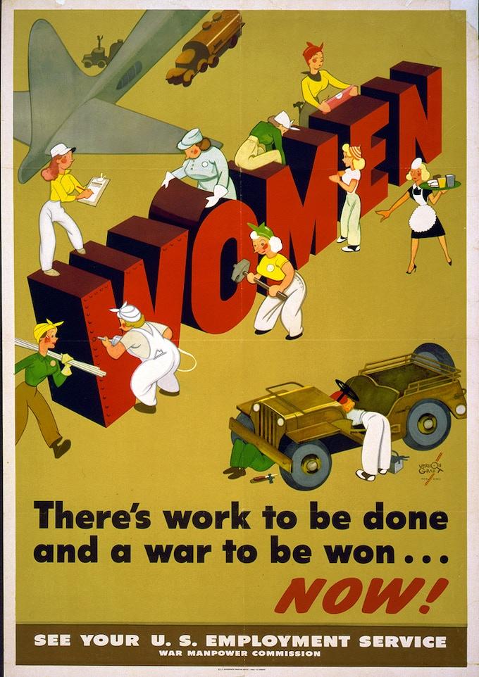 """Unrestored """"Women"""" Poster"""