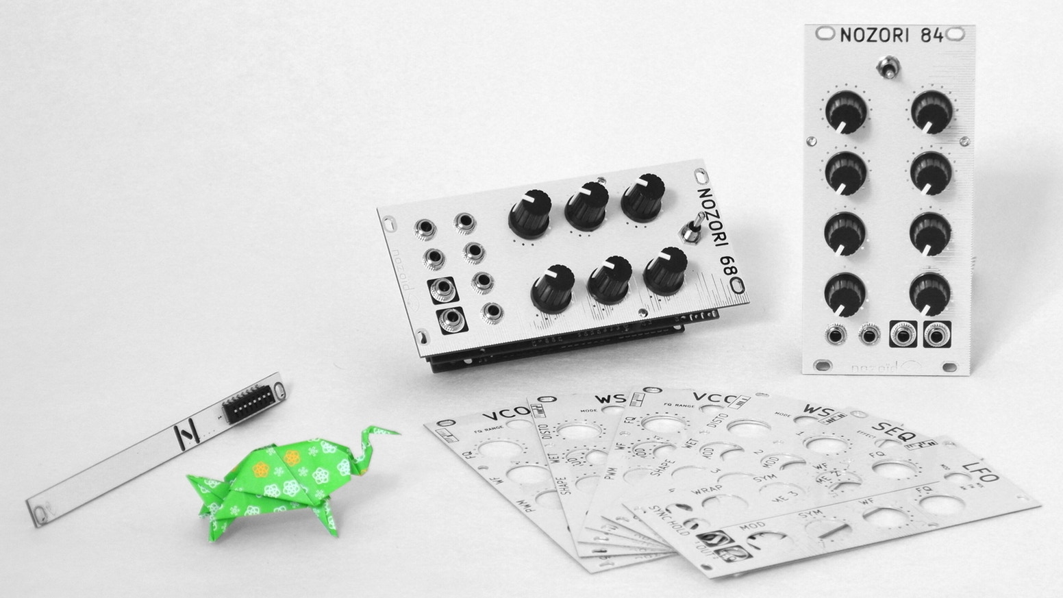 A single piece of paper can be folded into innumerable shapes. A single Nozori platform can morph into multiple eurorack modules.