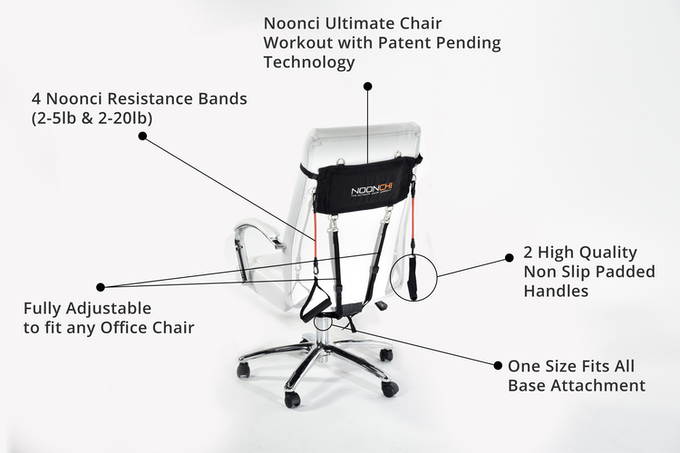 Your Noonchi will come with everything you need to start getting fit at work.