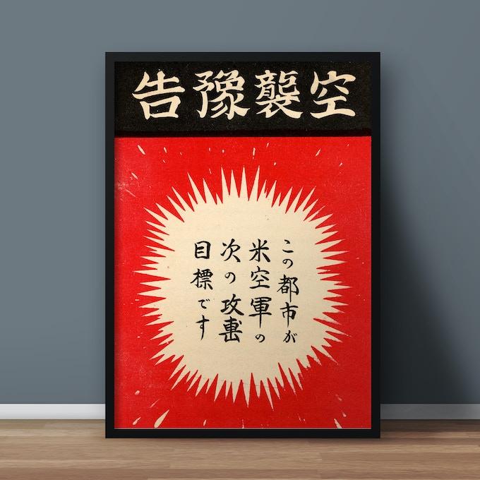 Bomb warning for Japan