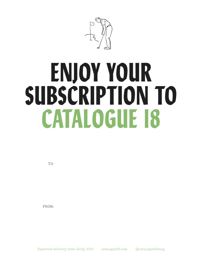 Did you buy a gift subscription to C18? Right click to save this image, then print it for a custom gift card!