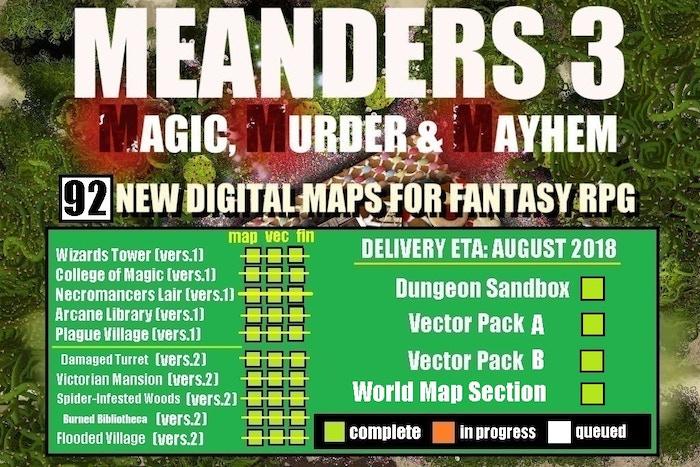 Meanders 3: Magic, Murder & Mayhem: Digital Maps & Assets by