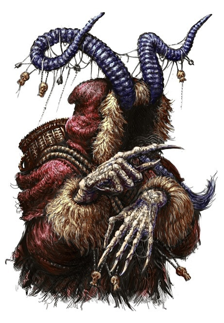 Krampus the Christmas Devil, as imagined by Tony Hough.