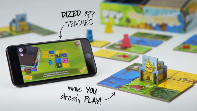 Dized app allows you to start immediately, and teaches you the game while you already play with interactive tutorials!