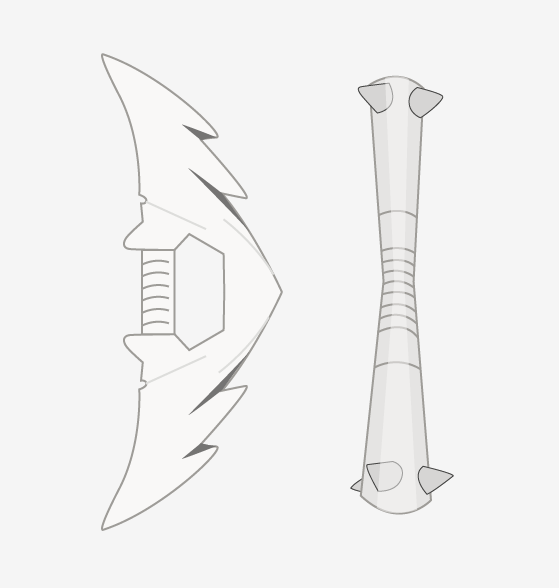 Designs for the Deer and Tiger weapons