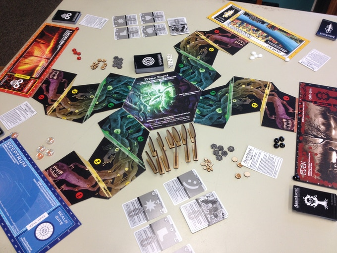 Prototype game shown with stretch goals.