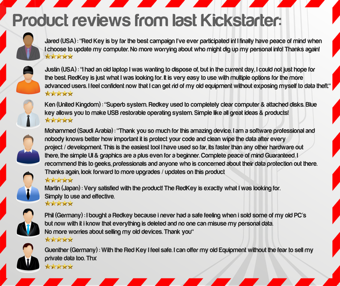Genuine Redkey product reviews from the last campaign.