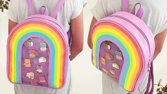 34ded2355 Pin Backpack: Rainbow Window Ita Bags / Make100 – Buzz And Chatter TV