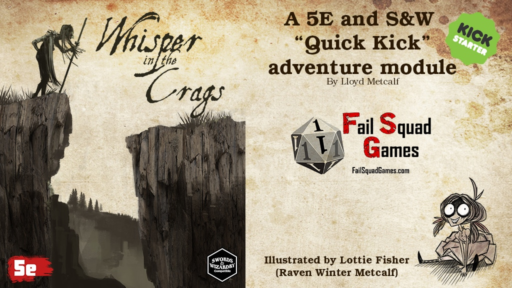Whisper in the Crags - 5E / S&W project video thumbnail