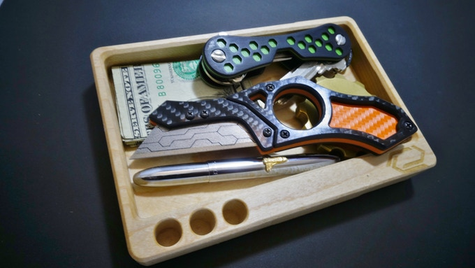 An attractive & compact way to store your daily EDC or desk items.