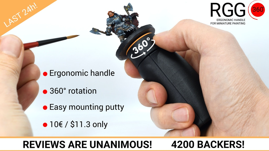 RGG 360° the best Ergonomic handle for miniature painting project video thumbnail