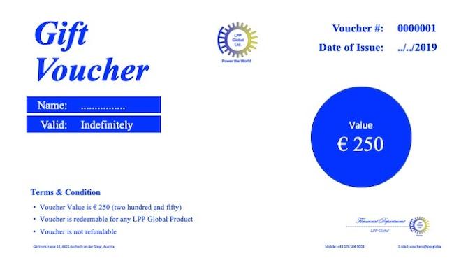 Gift Voucher Euro 250