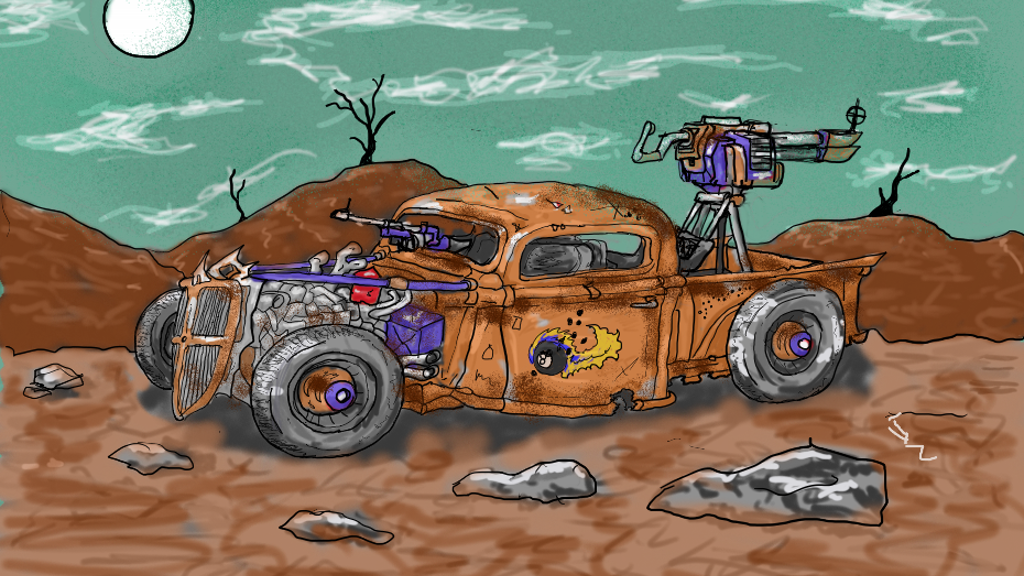 Project image for Death Derby: A Post-apocalyptic Card Game