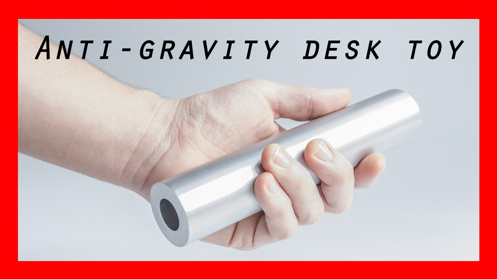 A minimalist anti-gravity desk toy project video thumbnail