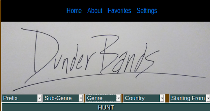DunderBands is a 'Guided Search Engine'