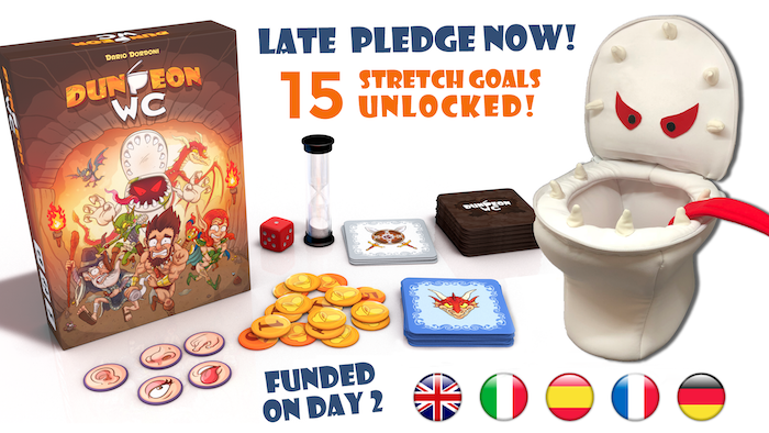 Real time, cooperative, card game. Bring your HERO to the bathroom before time ends!