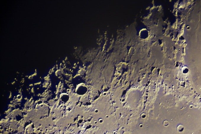 The moon imaged with the 129 year old Great Lick Refractor at the Lick Observatory