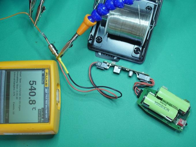 Solderdoodle Plus Discharge Test at Maximum Power