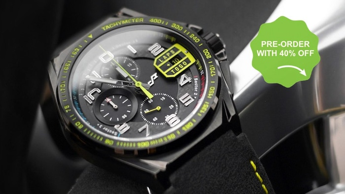Missed the campaign? Not a problem! Pre-order Paddock Chronograph now with 40% Off the price(while it is under production)