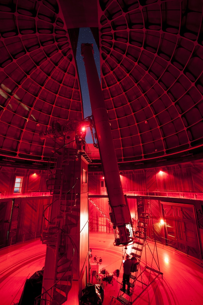 In 2017 we had the honor of using the 129 year old Great Lick Refractor at the Lick Observatory