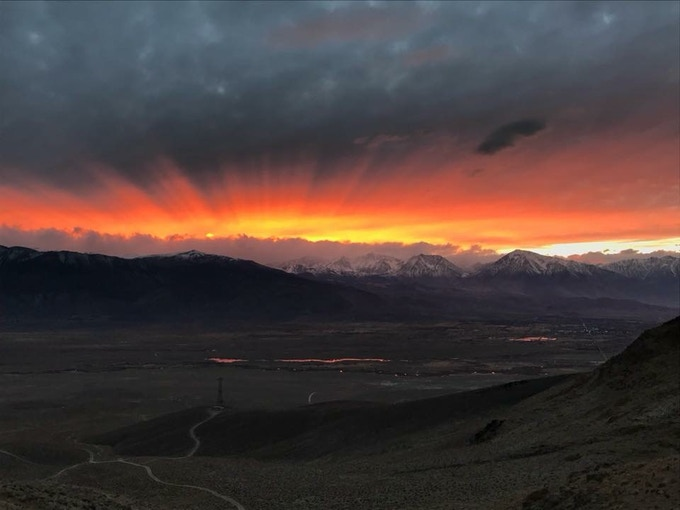 Sunset over Bishop and the Eastern Sierra