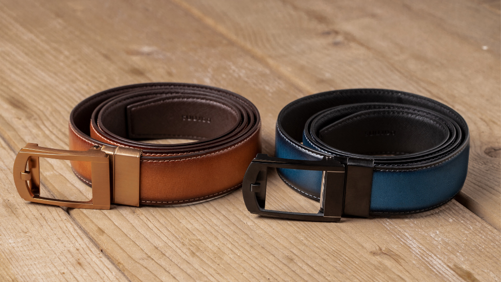 bf0eed41e38 The First Reversible Leather Belt with Micro-adjustable Fit project video  thumbnail