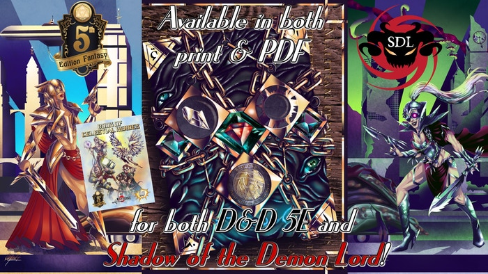 In this holy decopunk world goodness reigns supreme and you are either evil (tearing it down) or good (preserving and protecting it)!http://www.makeyourgamelegendary.com/products-page/5th-edition/book-of-exalted-darkness-5e/