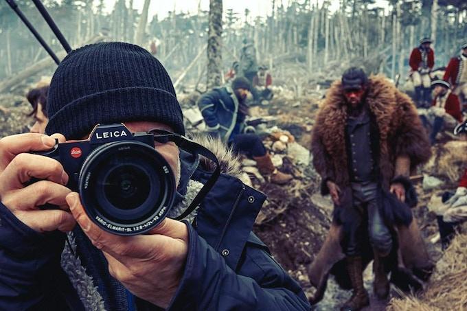Photographer Dennys Ilic on location in Newfoundland with Jason Momoa