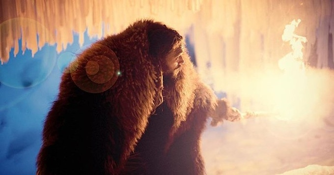 Declan Harp (Jason Momoa) exploring the ice caves of Western Newfoundland!