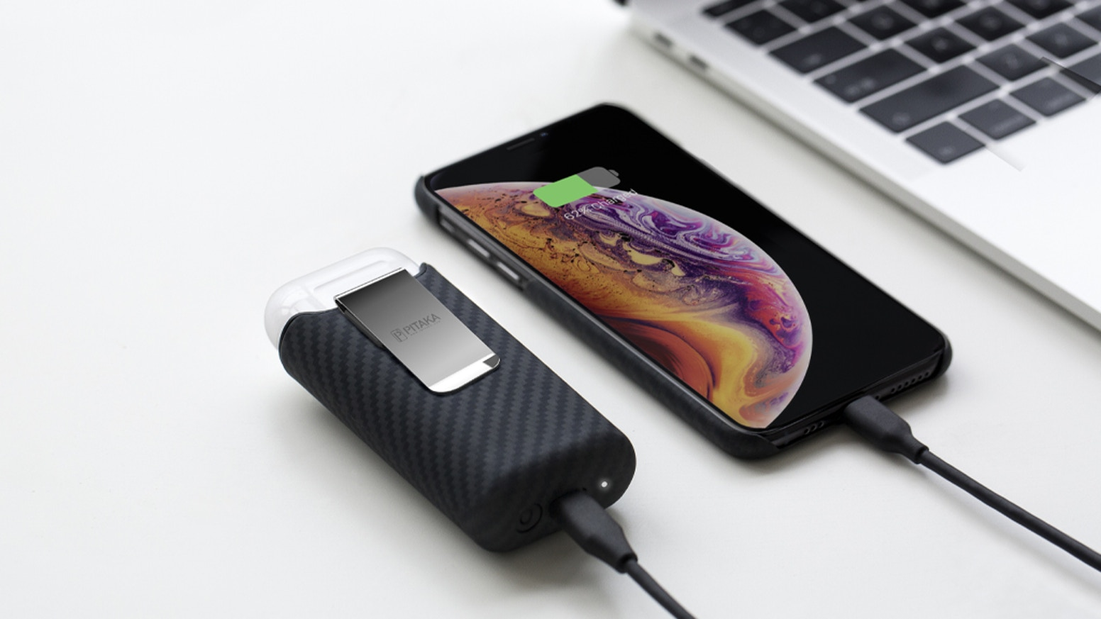 World's most powerful AirPods wireless charging case with power bank inbuilt. Anti-lost design and easy to carry.