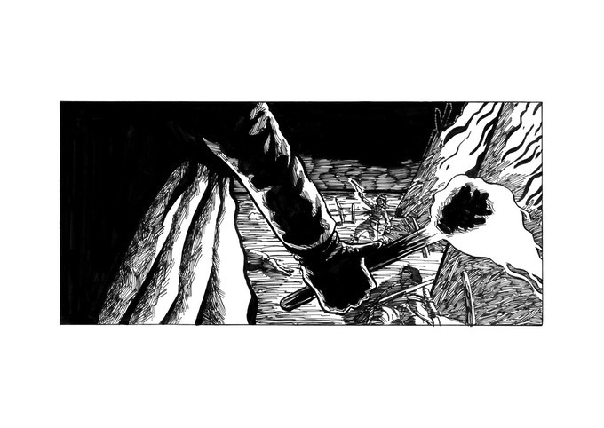 An excerpt from my short comic Jack on Fire