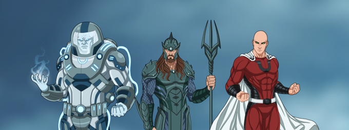 Some of the Villains!  The Ice Man, General C, and Ultrar!