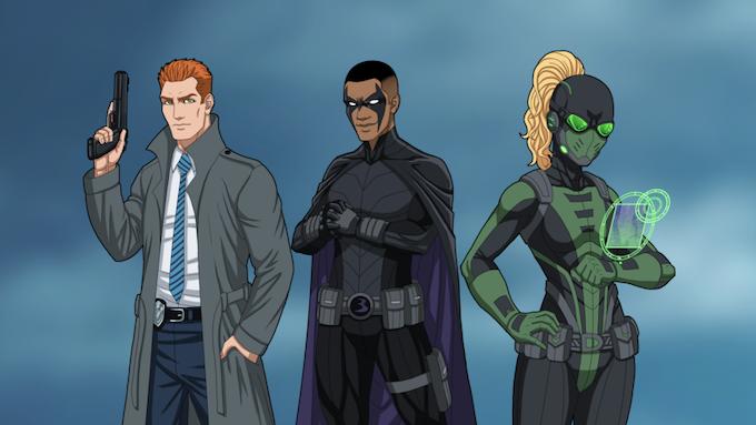 Sidekicks: Commissioner Jones, BlackBird, and Delphi!