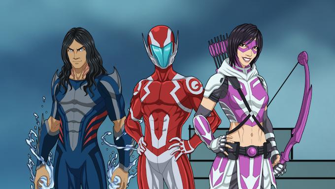 Sidekicks: Epsilon Wave (unlocked in later issue), Mach Q (unlocked in a later issue), and Amethyst Arrow!