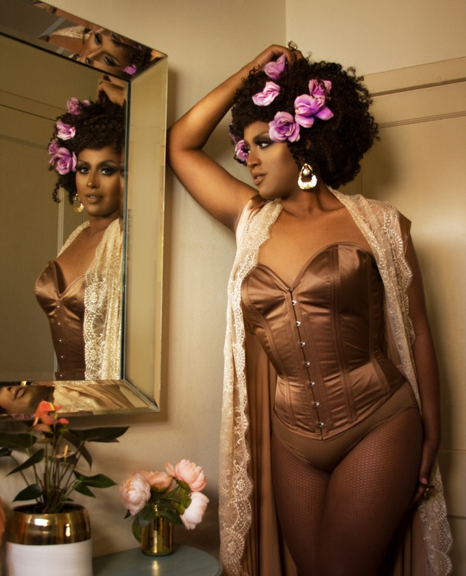 eff446d8ed8 Honey Mahogany shows off our newest corset silhouette