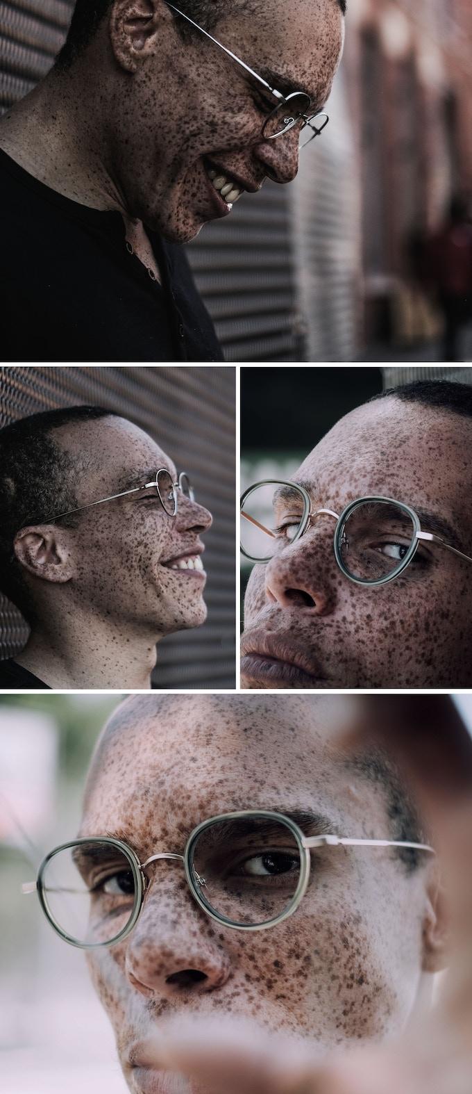 Glasses Model: Haussmann Smart Metal / Color: Matte Palladium - Glasses Model: Haussmann Ace&Steel / Color : Matte Green Transparent