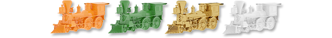 Locomotives (player markers) from Railways of Nippon
