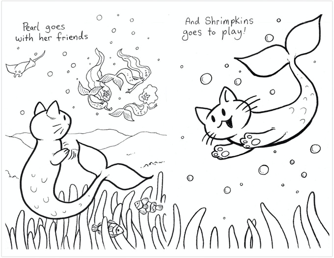 A Mermaid's Kitty Coloring Book - Make 100 by Kat Crow ...
