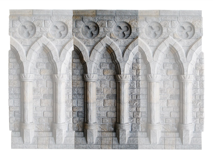 A preview of the actual texture that will be featured in our castle - this will be on the opposing wall to the cathedral windows.