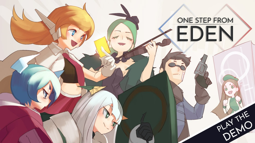 Image result for One Step From Eden - Deck Building Action Roguelike